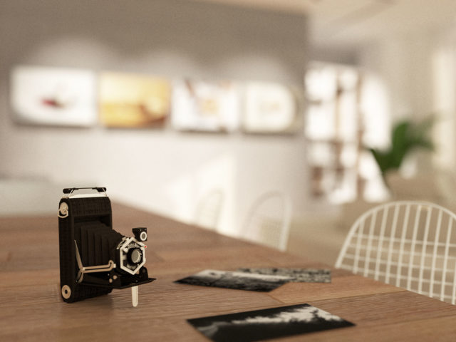Progetto di un atelier fotografico sul Lago di Garda.
